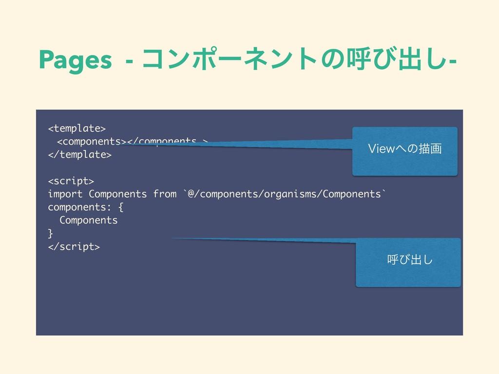 Pages - ίϯϙʔωϯτͷݺͼग़͠- <template> <components></...