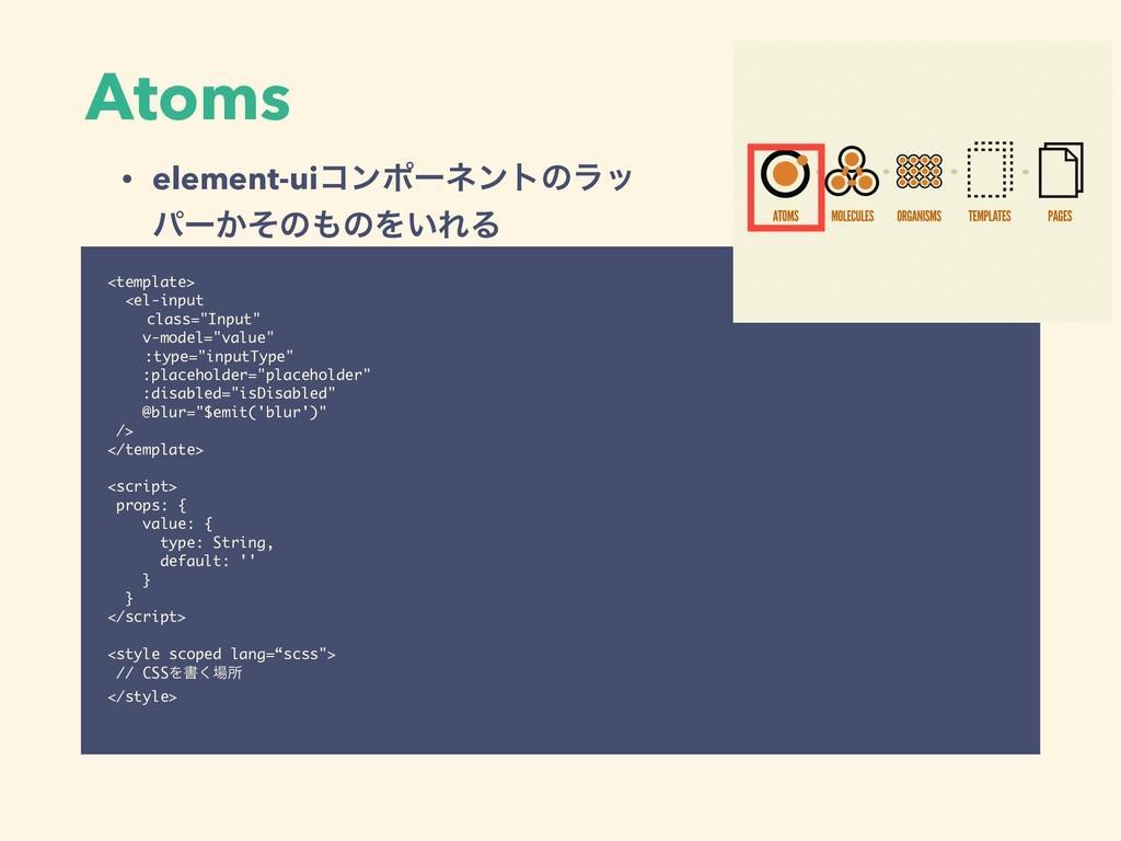"""Atoms <template> <el-input class=""""Input"""" v-mode..."""