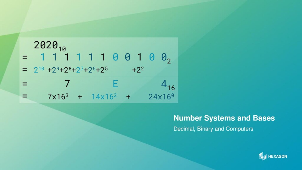 11 Decimal, Binary and Computers Number Systems...