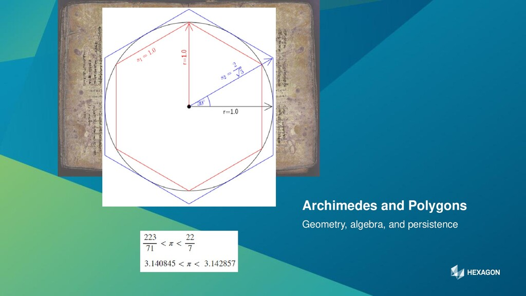 6 Geometry, algebra, and persistence Archimedes...