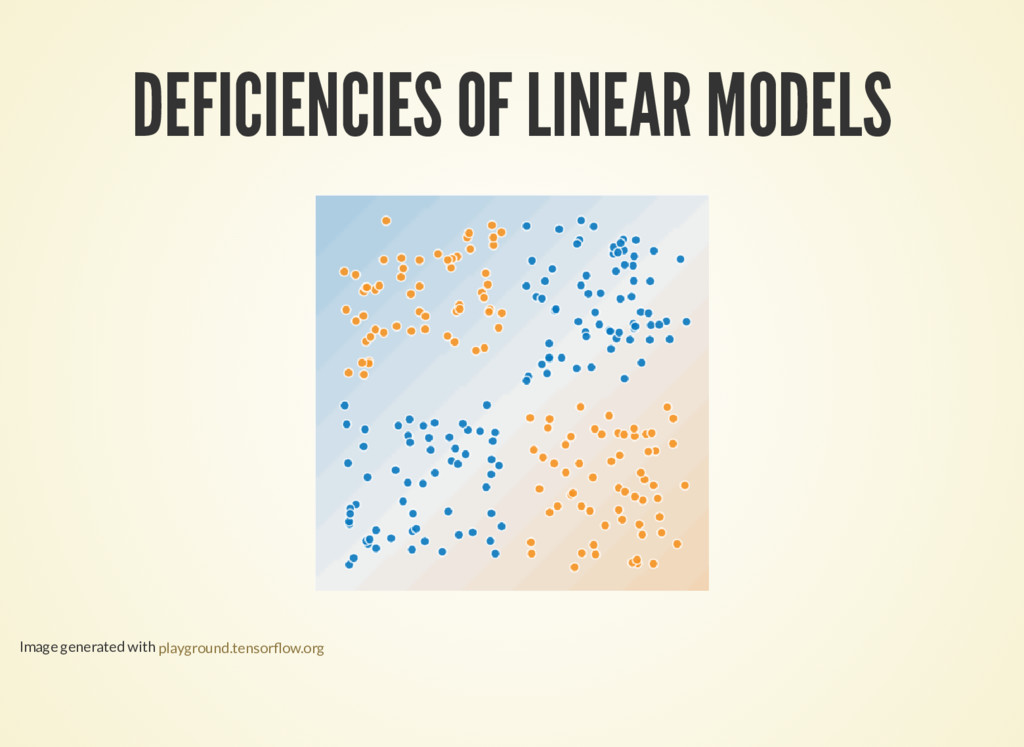 DEFICIENCIES OF LINEAR MODELS Image generated w...
