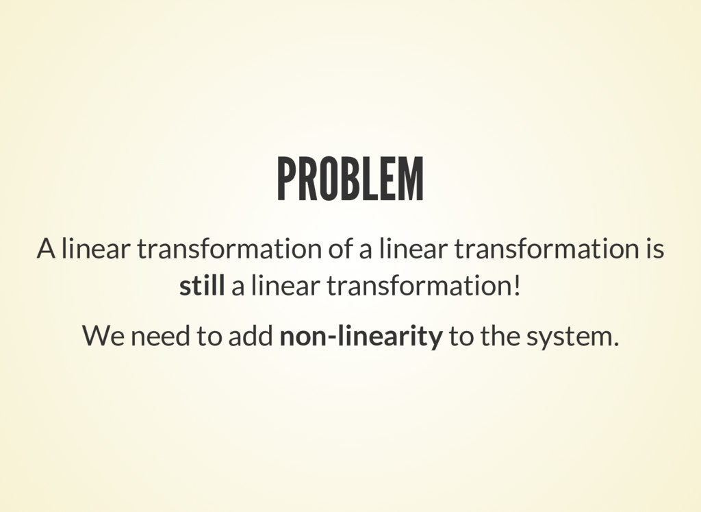 PROBLEM A linear transformation of a linear tra...