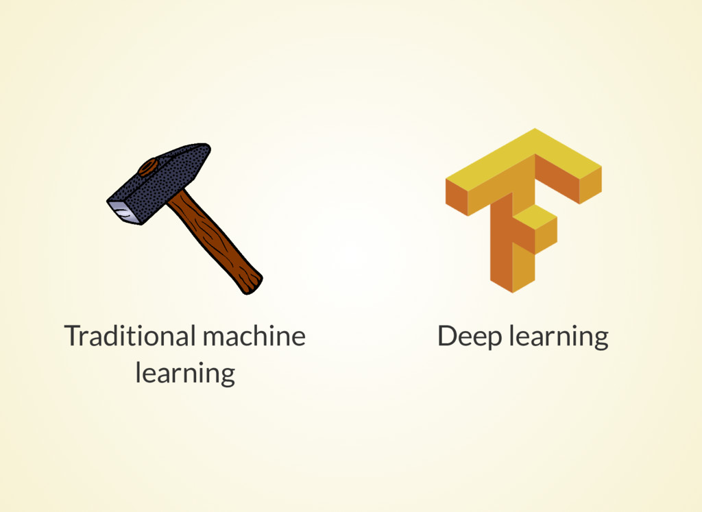 Traditional machine learning Deep learning