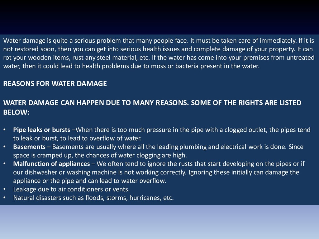 Water damage is quite a serious problem that ma...