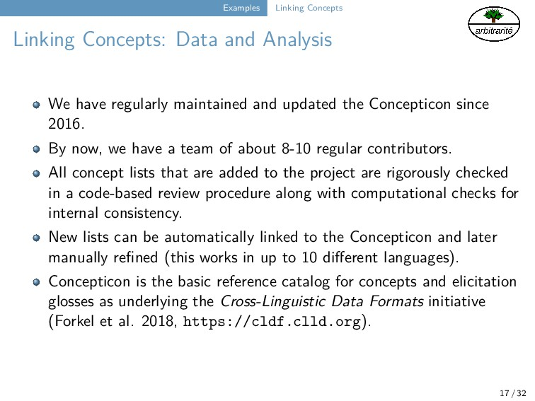 Examples Linking Concepts Linking Concepts: Dat...