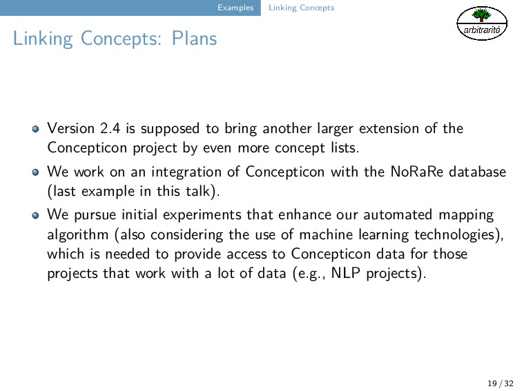 Examples Linking Concepts Linking Concepts: Pla...