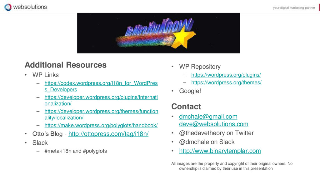 Additional Resources • WP Links – https://codex...