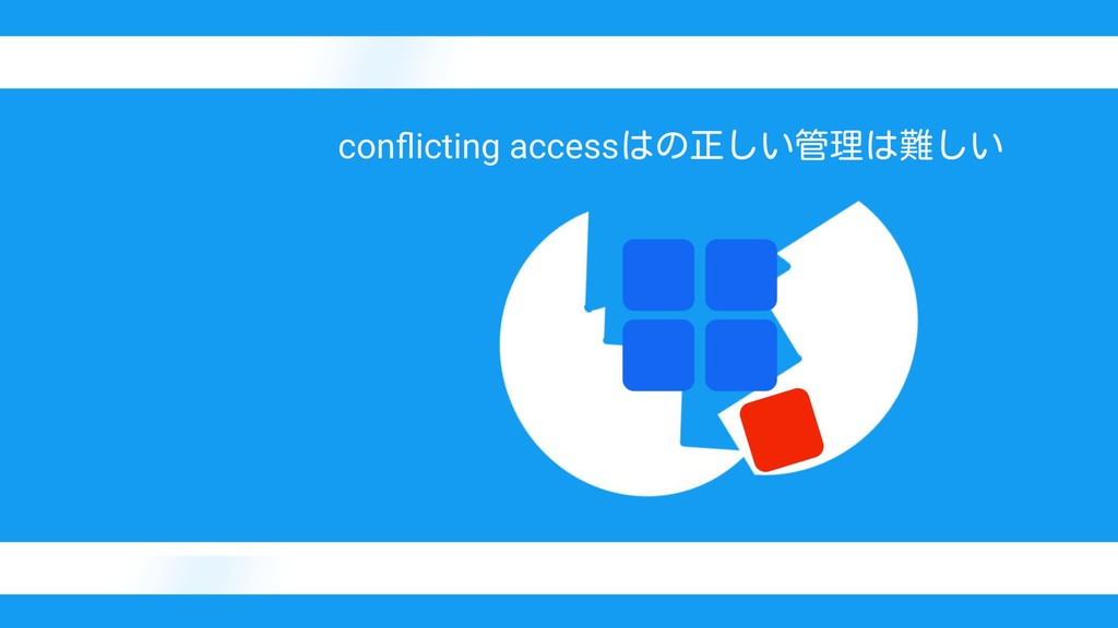 conflicting accessはの正しい管理は難しい