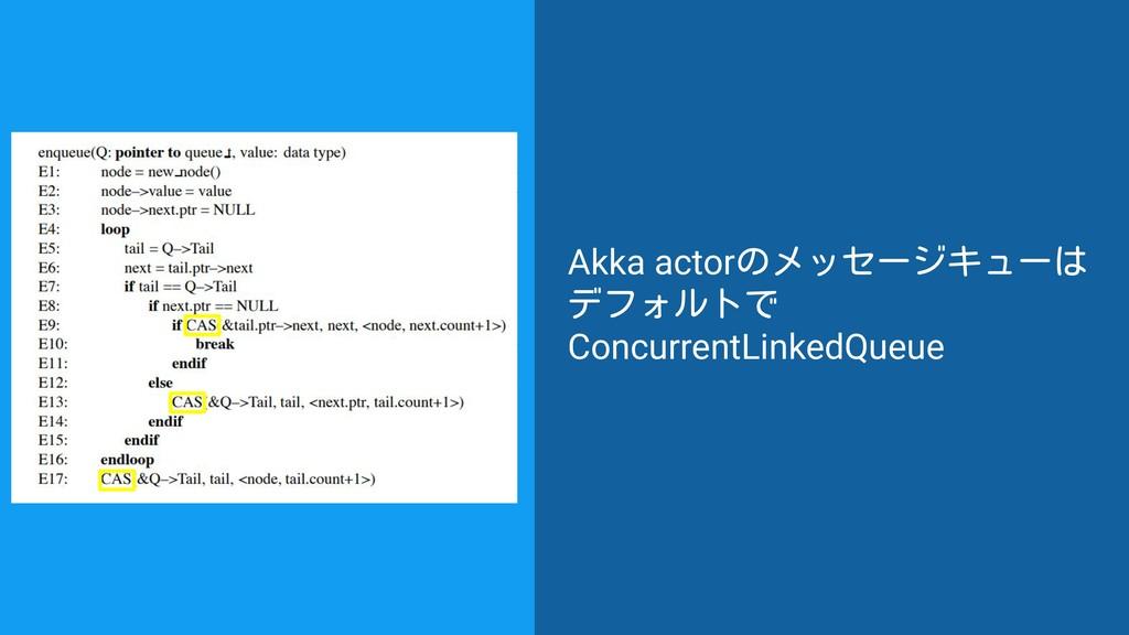 Akka actorのメッセージキューは デフォルトで ConcurrentLinkedQue...
