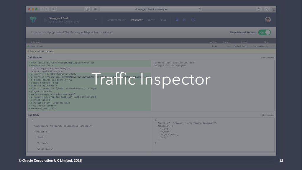 Traffic Inspector © Oracle Corpora,on UK Limited...