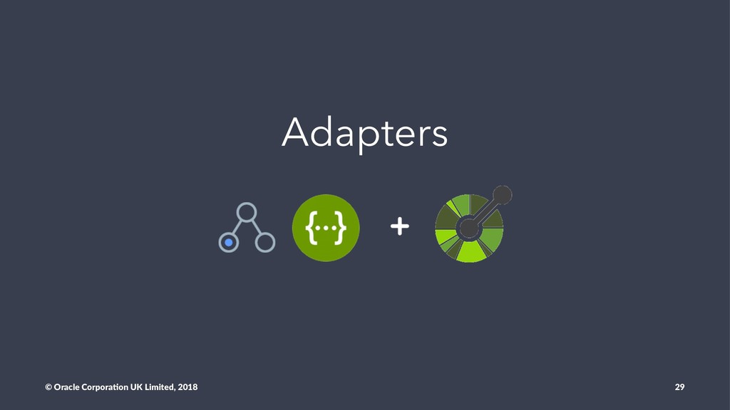 Adapters © Oracle Corpora,on UK Limited, 2018 29