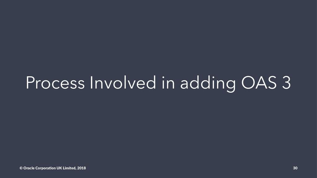 Process Involved in adding OAS 3 © Oracle Corpo...
