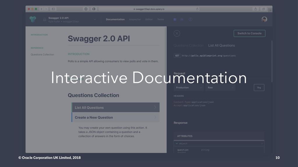 Interactive Documentation © Oracle Corpora,on U...