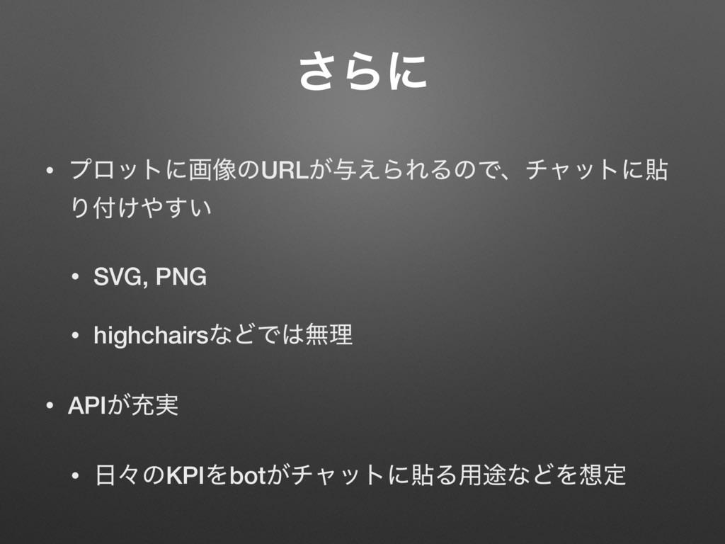 ͞Βʹ • ϓϩοτʹը૾ͷURL͕༩͑ΒΕΔͷͰɺνϟοτʹష Γ͚͍͢ • SVG, ...