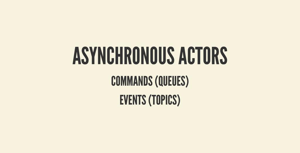 ASYNCHRONOUS ACTORS ASYNCHRONOUS ACTORS COMMAND...