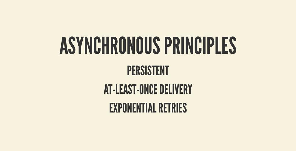 ASYNCHRONOUS PRINCIPLES ASYNCHRONOUS PRINCIPLES...