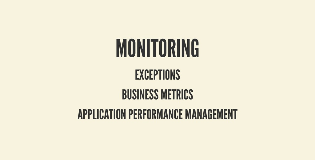 MONITORING MONITORING EXCEPTIONS EXCEPTIONS BUS...
