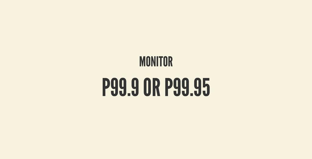 MONITOR MONITOR P99.9 OR P99.95 P99.9 OR P99.95