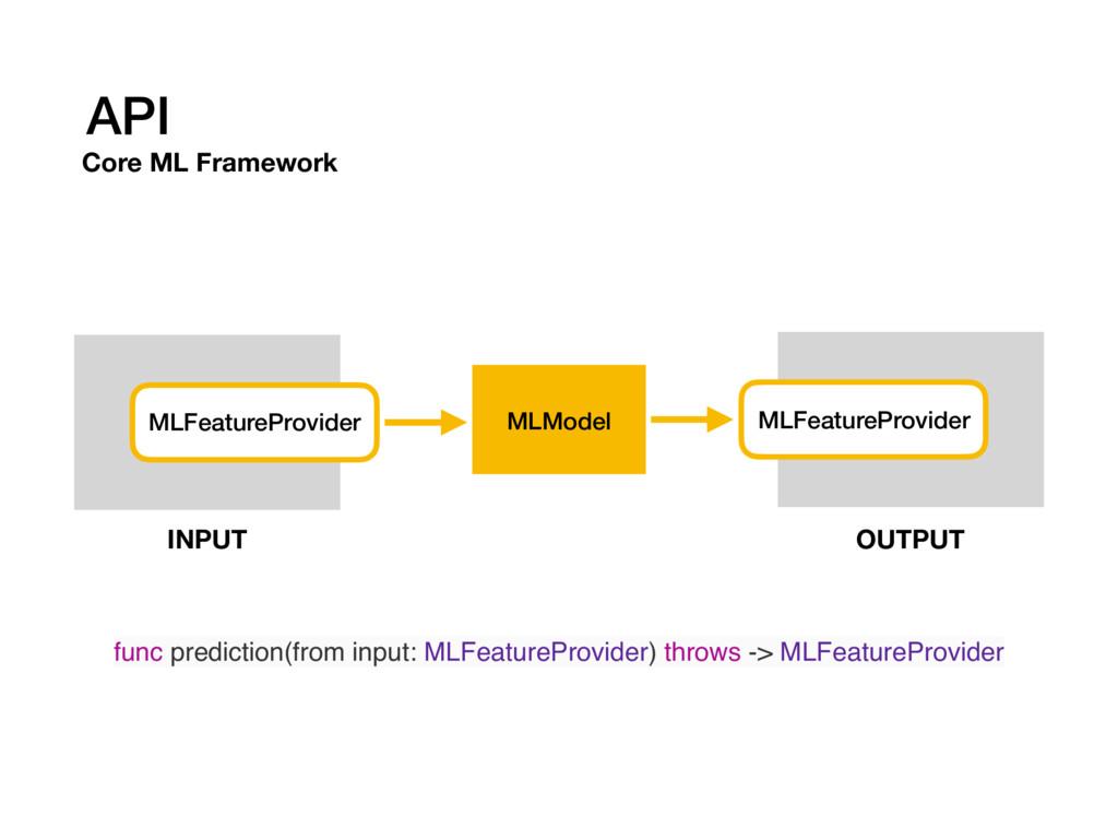 API Core ML Framework MLModel MLFeatureProvider...