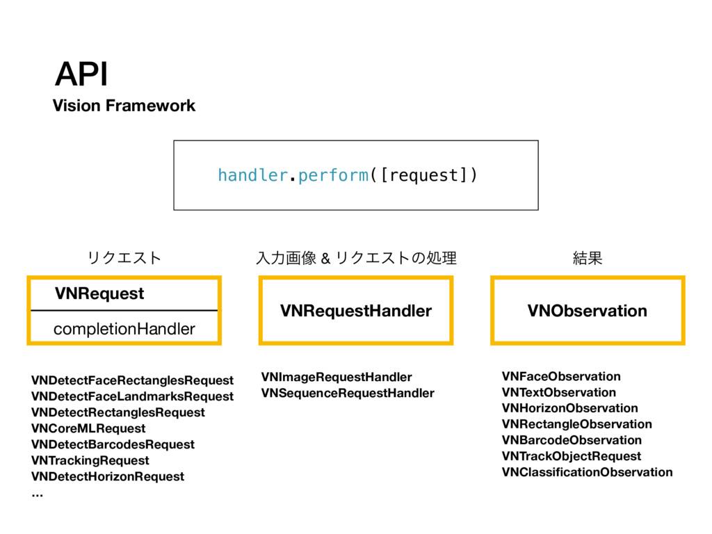 API Vision Framework VNRequest VNRequestHandler...