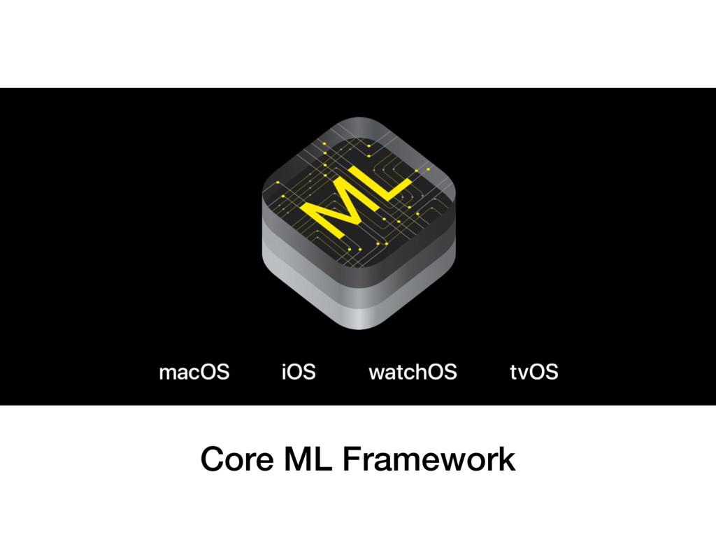 Core ML Framework