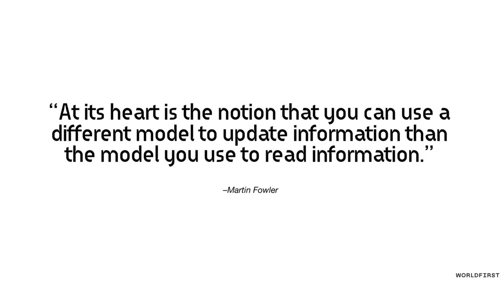 "–Martin Fowler ""At its heart is the notion that..."