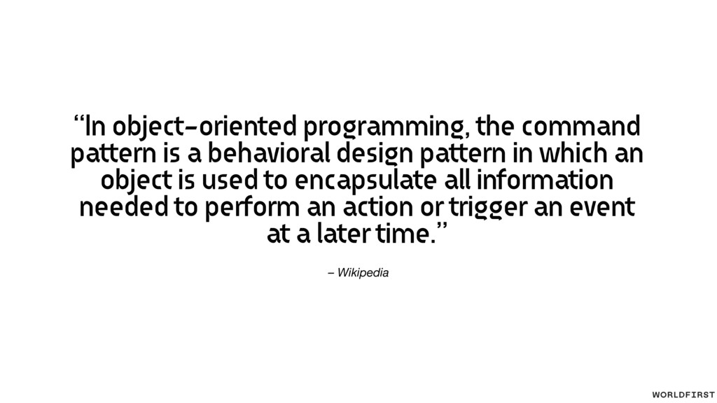 "– Wikipedia ""In object-oriented programming, th..."