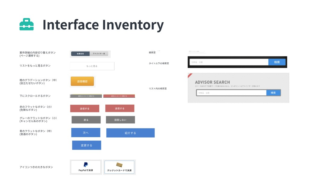 Interface Inventory 