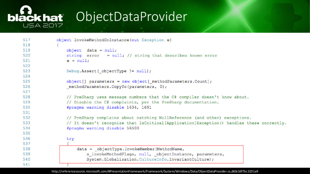 ObjectDataProvider http://referencesource.micro...