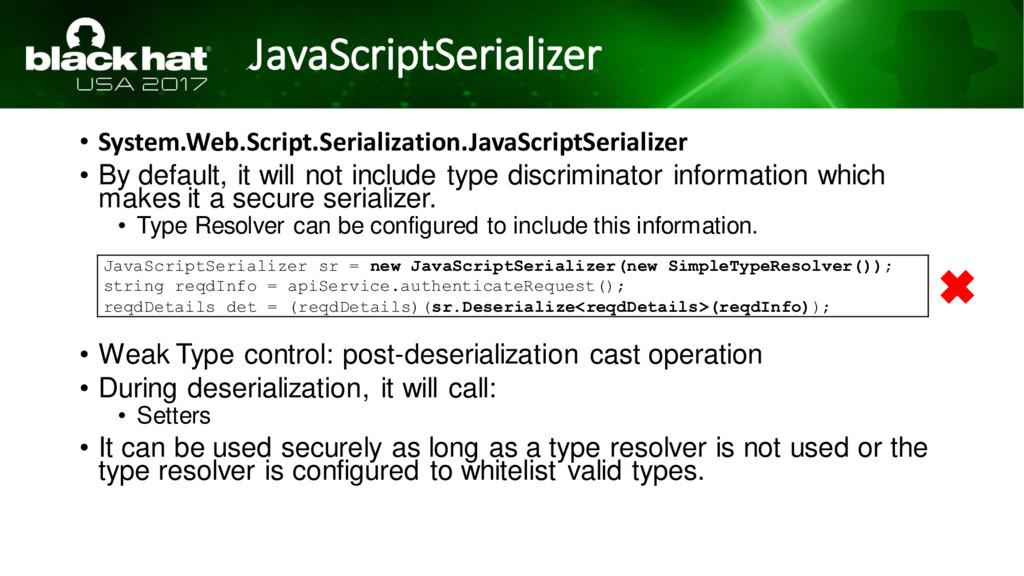 JavaScriptSerializer • System.Web.Script.Serial...