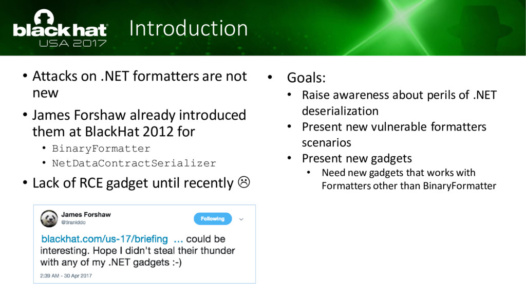 Introduction • Attacks on .NET formatters are n...