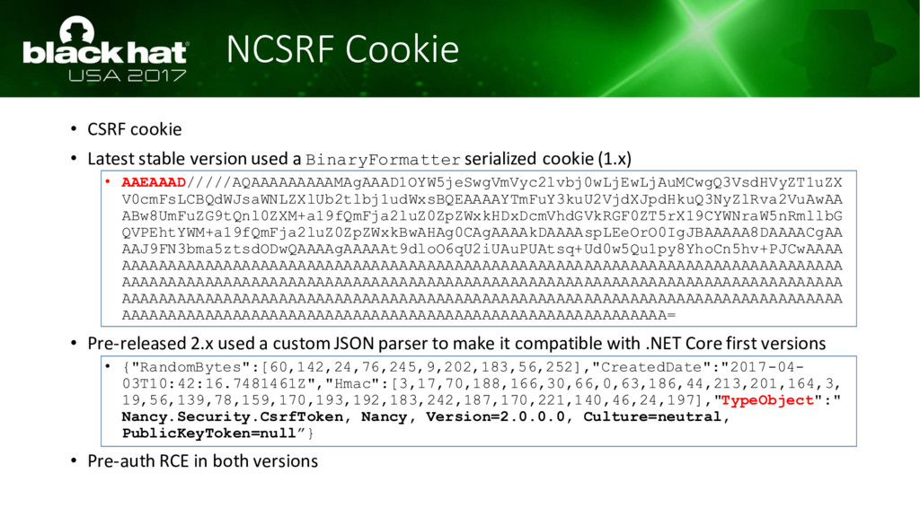 NCSRF Cookie • CSRF cookie • Latest stable vers...