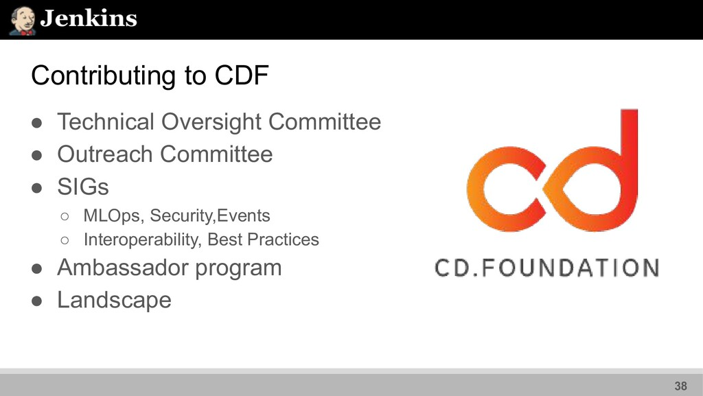 Contributing to CDF ● Technical Oversight Commi...
