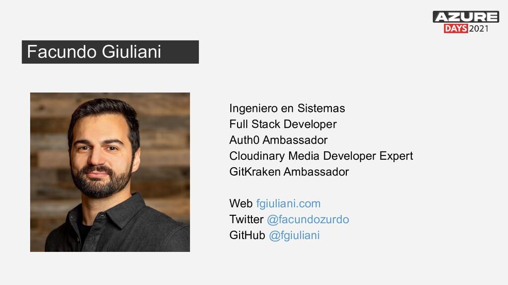 Ingeniero en Sistemas Full Stack Developer Auth...