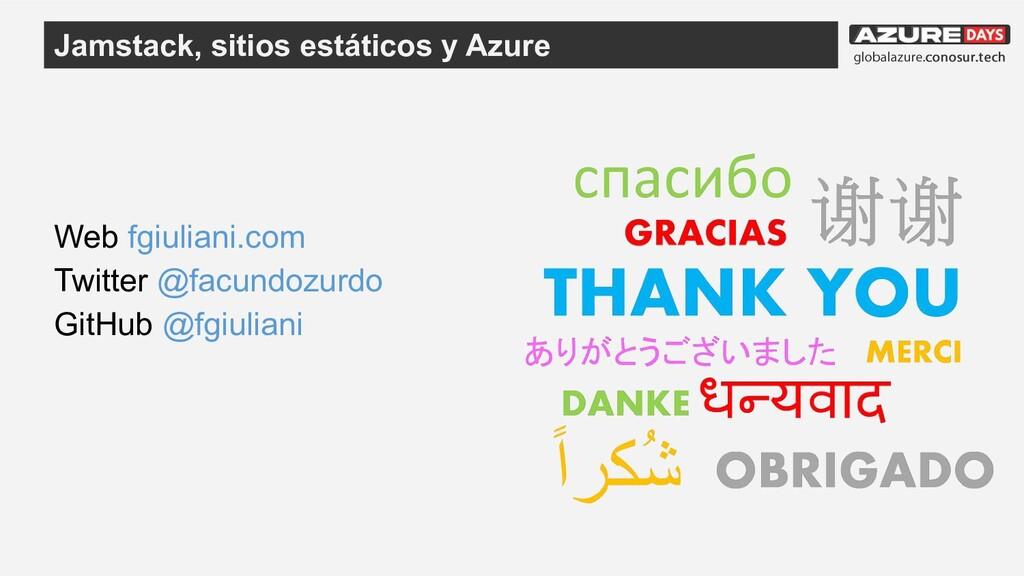 Web fgiuliani.com Twitter @facundozurdo GitHub ...