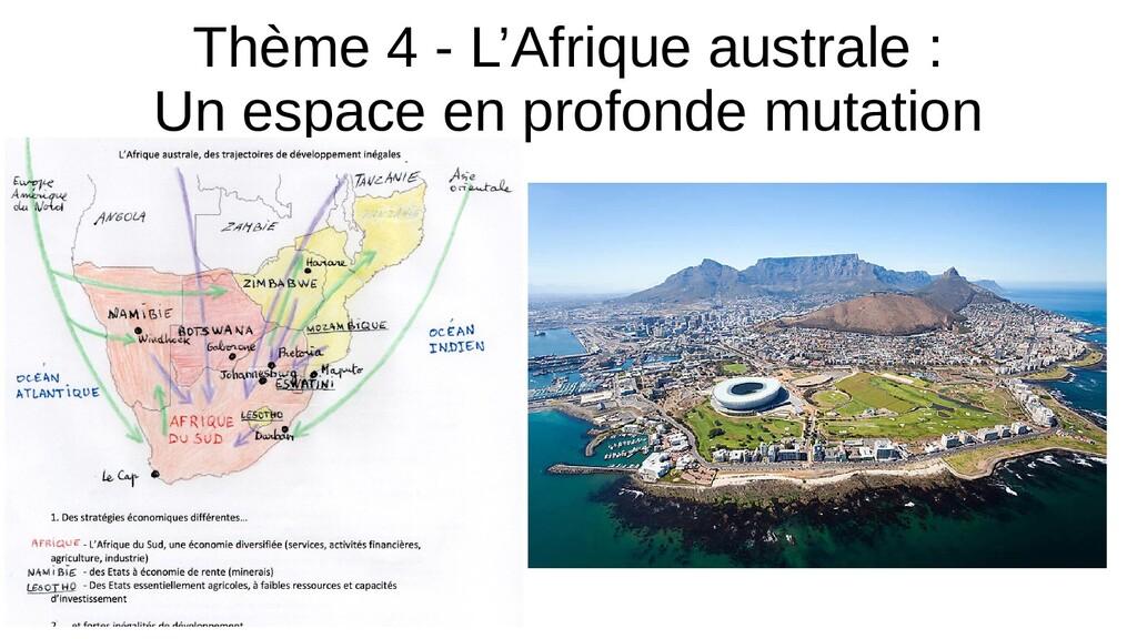 Thème 4 - L'Afrique australe : Un espace en pro...