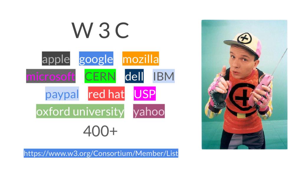 W 3 C apple google mozilla microsoft CERN dell ...