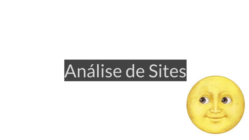 Análise de Sites