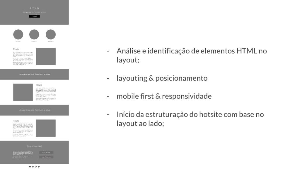- Análise e identificação de elementos HTML no ...