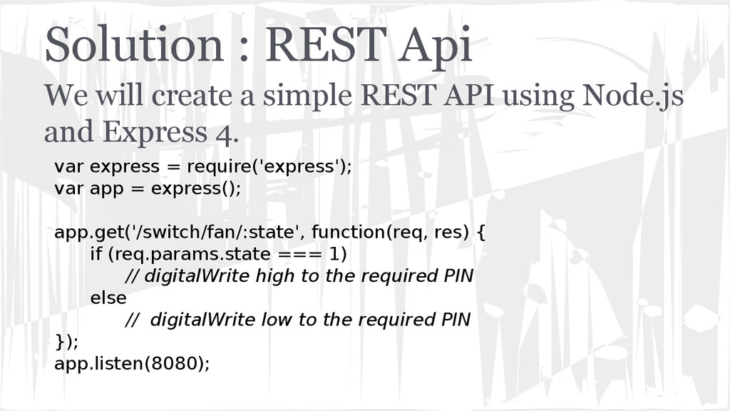 Solution : REST Api We will create a simple RES...