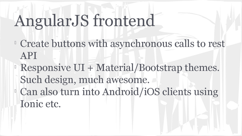 AngularJS frontend  Create buttons with asynch...