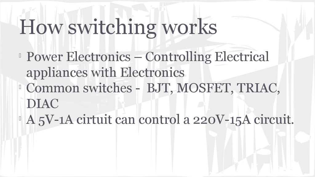 How switching works  Power Electronics – Contr...