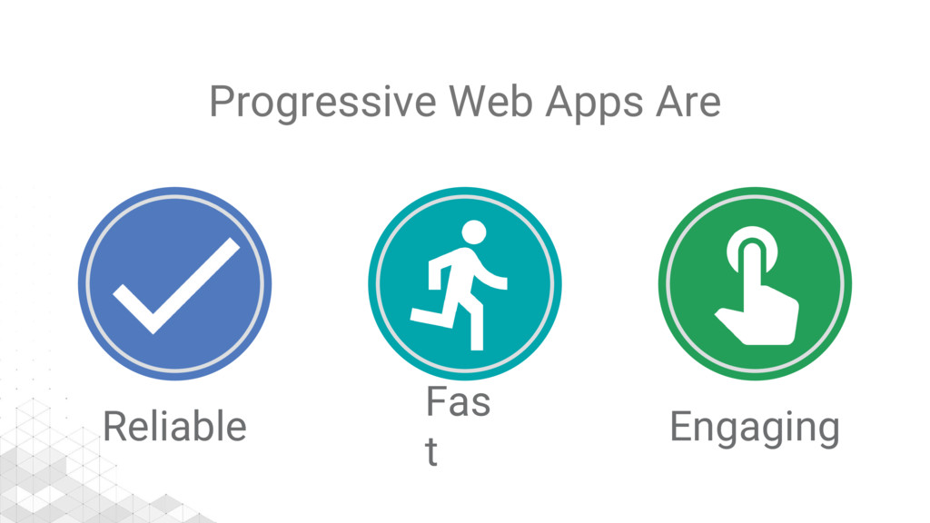 Progressive Web Apps Are Reliable Fas t Engaging