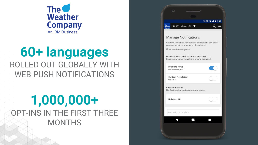 1,000,000+ OPT-INS IN THE FIRST THREE MONTHS 60...