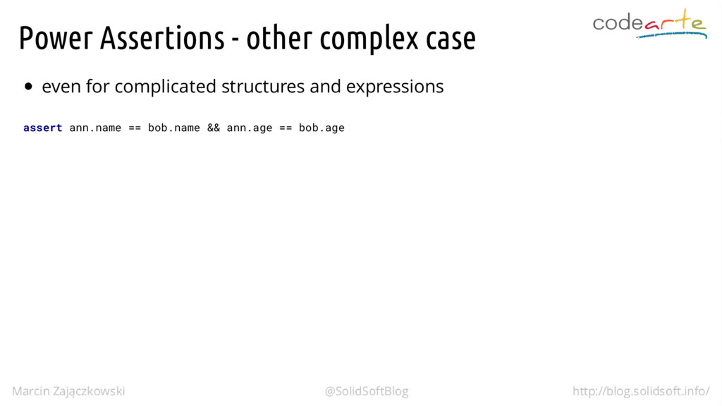 Power Assertions - other complex case even for ...