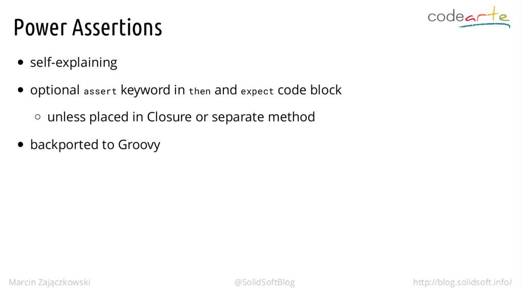 Power Assertions self-explaining optional asser...