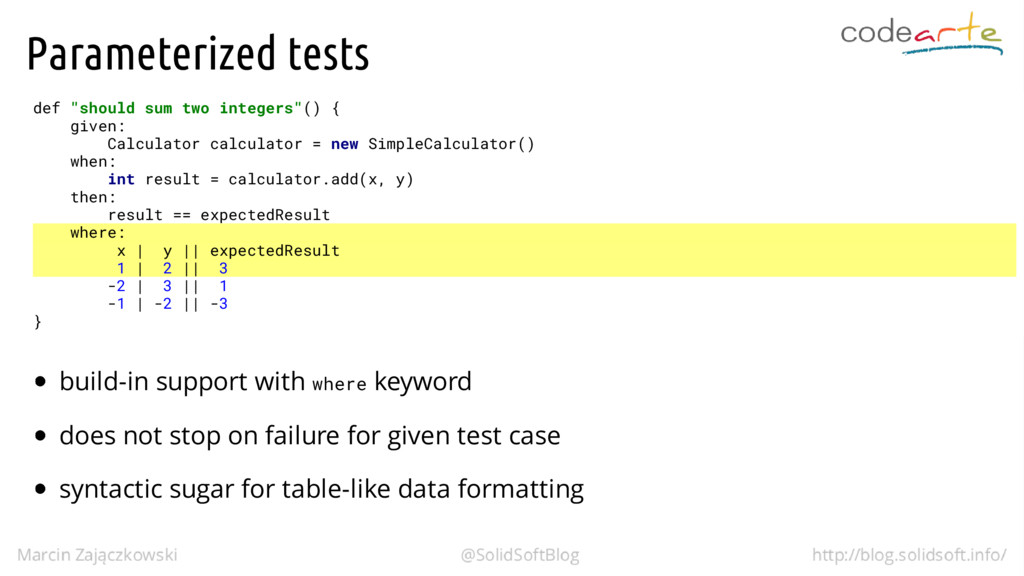 """Parameterized tests def """"should sum two integer..."""