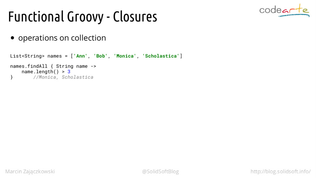 Functional Groovy - Closures operations on coll...
