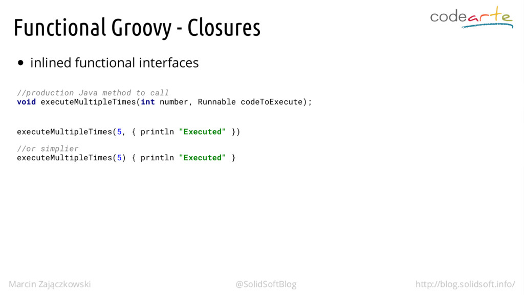 Functional Groovy - Closures inlined functional...
