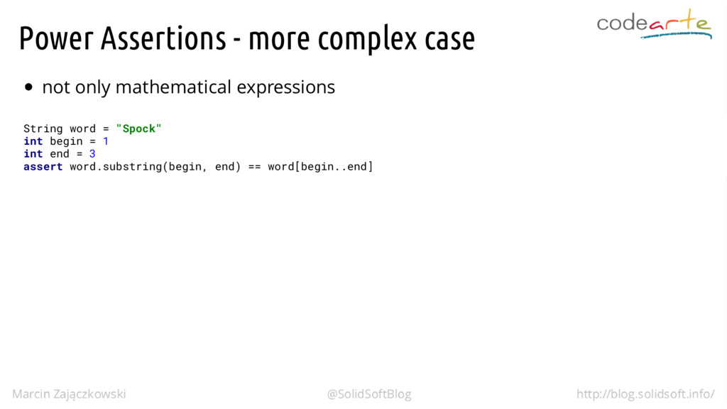 Power Assertions - more complex case not only m...